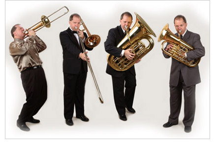norlan bewley playing trombone, tuba, and euphonium